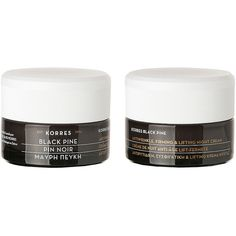 KORRES Black Pine Firming, Lifting & Antiwrinkle Night Cream 1.35 oz... ($68) ❤ liked on Polyvore featuring beauty products, skincare, face care, face moisturizers, fillers, makeup and korres