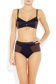 196f981bb2 VPL s satin-paneled stretch-cotton bra is the perfect fit for an active  lingerie
