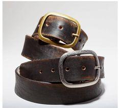 """Men/'s Snap on plaine ceinture large 1-1//2/"""" Noir Marron Bleu Marine Blanc Gris"""