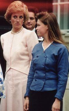 Princess Diana with Lady Sarah Armstrong-Jones.