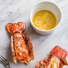 This 10 Minute Perfect Broiled Lobster Tails Recipe is the quickest, tastiest, and easiest way to cook lobster tails- get perfect lobster every time! French Toast, Breakfast, Food, Eten, Hoods, Meals