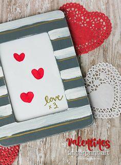 Valentines Fingerprint Art