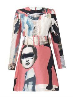 Dada-print Habotai-silk dress | Carven | MATCHESFASHION.COM