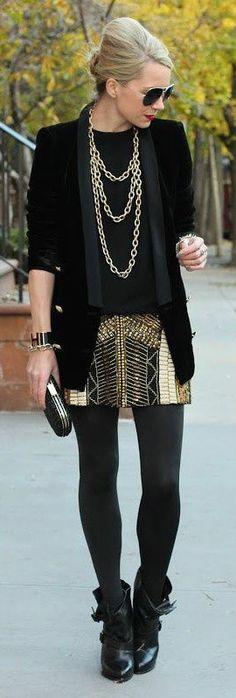 Street Style Gold & Black