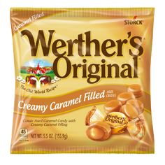 Werther's Original Hard Caramels: Premium ingredients like fresh cream and real butter make our classic caramel truly special. Werther's Caramel, Cremeux Caramel, Manju Recipe, Struffoli Recipe, Microwave Caramels, Junk Food Snacks, Nutella Recipes, Candy Bowl, Indian Sweets