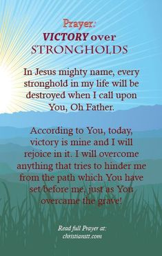 Prayer for Victory over Strongholds....
