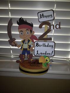 Jake and The Neverland Pirates Birthday Party Custom Centerpiece. $18.50, via Etsy.