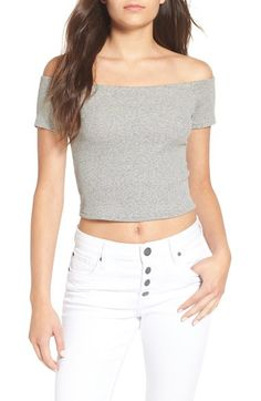 Billabong 'Good to Catch' Off the Shoulder Crop Tee available at #Nordstrom
