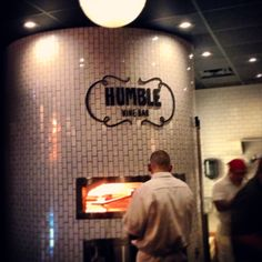 Humble Wine Bar : Lakewood OH (wood oven fired pizza! Pizzeria Design, Restaurant Design, Wood Oven, Wood Fired Oven, Wood Fired Pizza, Outdoor Restaurant, Pizza Restaurant, Lofts, Wine And Pizza