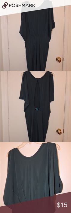 Love 21 (Forever21) green dress Open back, wide sleeve with pockets, green dress, worn once Forever 21 Dresses Mini