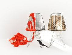 Architizer Blog » Knit-Bombing the Eames Wire Chair