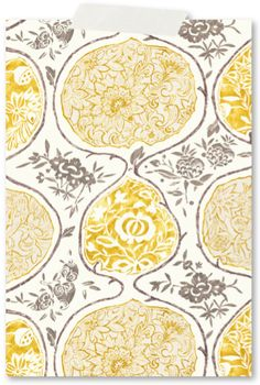 yellow and gray printed fabric...