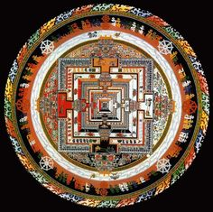"""The practice of creating mandalas as a sacred art and spiritual science originated many thousands of years ago in India. Mandala in Sanskrit means sacred circle. The original purpose of creating mandalas was as a meditation device to awaken to one's true immortal self, by directing creative energy inwards and upwards through the spine to the """"mandala of light"""", otherwise known as the spiritual eye."""