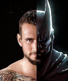 CM Punk/Batman, pretty awesome #wrestling #cmpunk