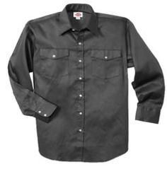 Long Sleeve Snap Front Work Shirt          PRICE  $34.99 - $37.99   Item# 1221     - Classic Fit  - Stain release  - Extra long tail  - Chest pockets with flaps