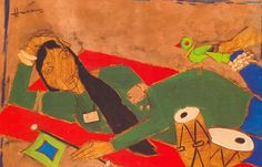 For 40 years I had painted the same picture, then I put a different name on it and they queued up. -M.F Hussain