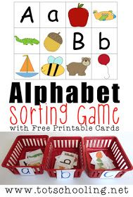 Free Printable Alphabet Sorting Game