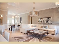 Living Room Design | Neutral Living Room, Oomph Coffee Table, Restoration Hardware Sectional | A Model at Bishops Pond Southampton Village