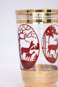 Antique deer glass delicate deer drinking glass by hipposdream, €21.00