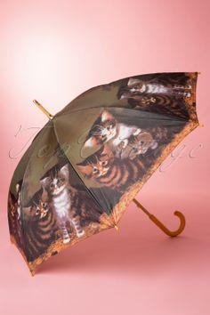 So Rainy - 50s Vintage Kitty Kat Umbrella