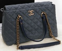 f286f1c35449 CN0079 Chanel Classic Original Nubuck Cannage Pattern Two Handle Bag A1236  Grey Welcome, Handle,