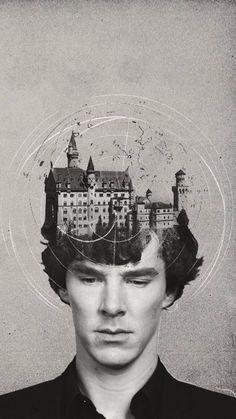 bbc, sherlock, benedict cumberbatch his mind palace:) Benedict Sherlock, Sherlock John, Sherlock Tumblr, Sherlock Holmes Bbc, Funny Sherlock, Sherlock Moriarty, Sherlock Season, Sherlock Cumberbatch, Disney Films