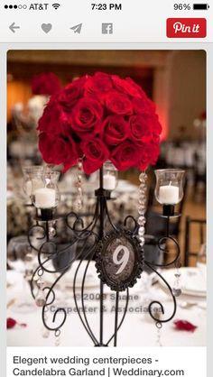 Beautiful wedding center piece!