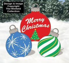 wooden christmas yard art | Holiday Signs - Giant Ornaments Woodcraft Pattern