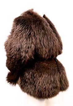 very rare 1999 RICK OWENS sculpted shearling fur coat image 2