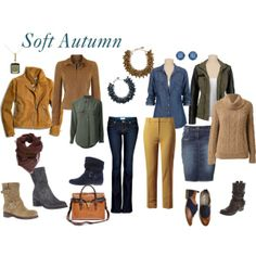 Soft Autumn - Polyvore, I like these pieces but it is not my color family.