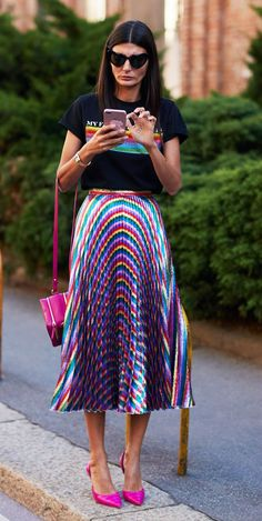 912bff8e7da Proof Milan s Street Style Is the Best Place to Find Print Outfit Inspo