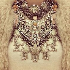 this is one heck of a bridal necklace | #bridestyle #glam #statementpiece