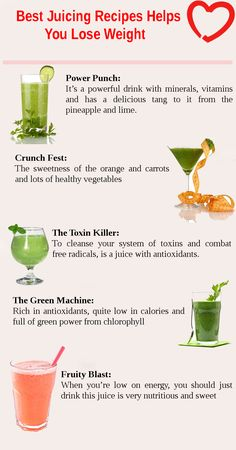 Juicing is the fastest and tastiest way to get all those healthy vitamins, minerals, antioxidants and enzymes that our modern diets are lacking. If you are looking to lose weight then try our juicing recipes for weight loss.