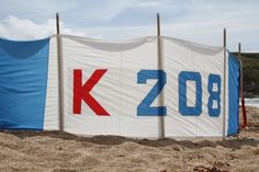 windbreak recycled from old sails