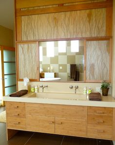 Los Angeles Home Bamboo Cabinets Design, Pictures, Remodel, Decor and Ideas
