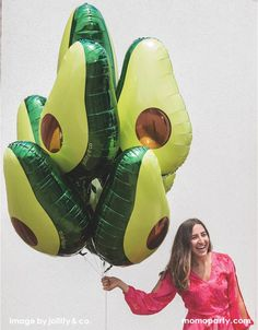 Bring this unique avocado balloon to your fiesta themed party! Perfect for setting behind the taco bar, celebrating Cinco de Mayo or hosting a fiesta-themed birthday party. Featuring a real life avocado, this balloon will sure shake up some fun at you next event! This balloon includes a self-sealing valve, preventing the gas from escaping after it's inflated. The balloon can be inflated with helium to float or with a balloon air inflator. Size: 30 inches Balloon arrives uninflated. To fill… Fiesta Party Decorations, Fiesta Theme Party, Kids Party Themes, Party Party, Party Ideas, Birthday Bbq, Themed Birthday Parties, Twin Birthday Themes, Mexican Fiesta Birthday Party