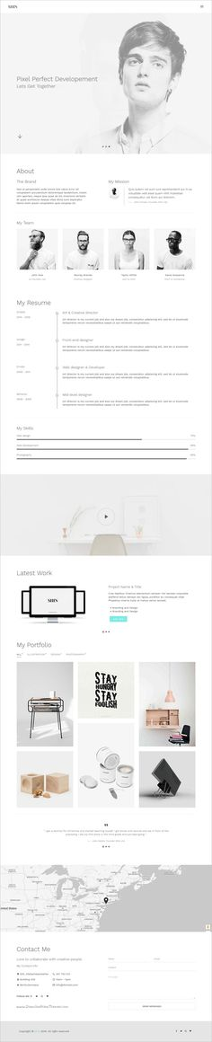 Reximost - Responsive CV \/ Resume \/ Personal \/ Portfolio HTML - personal resume website template