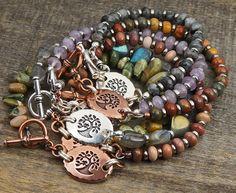 Tree bracelets with semiprecious stone beads | Laurel Moon Jewelry