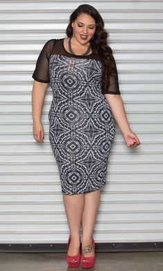 #plussize #printed #dress at Curvalicious Clothes  www.curvaliciousclothes.com TAKE 15% OFF Use code: TAKE15 at checkout