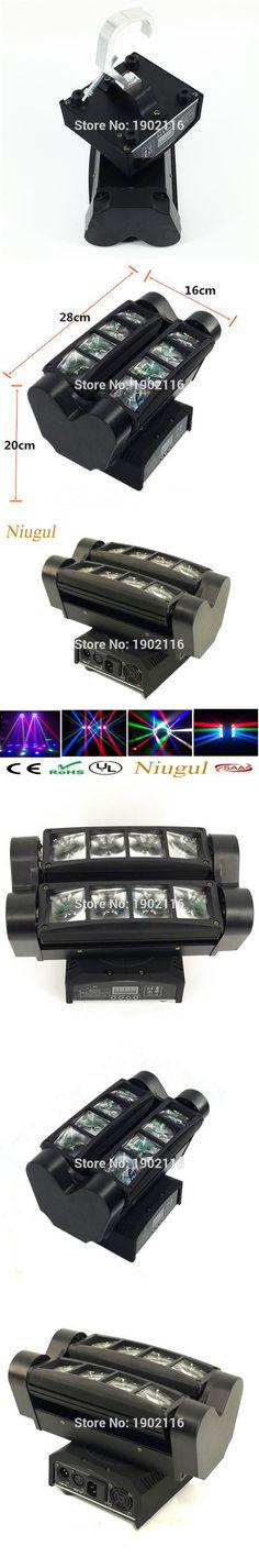 Niugul Professional LED Stage lighting 8x10W RGBW MINI Led Spider Moving Head Beam Light DMX512 LED Spider Light dj disco lights