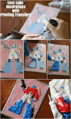 Easy Cake Decorations with Frosting Transfers - Step by step instructions.