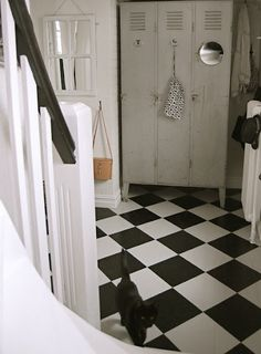 I love this idea for organizing the front hall.