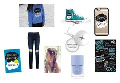 """TFIOS"" by hogwarts-hipster ❤ liked on Polyvore featuring Casetify, Frame Denim and Nails Inc."