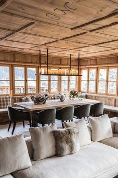 Chalet Design, Loft Design, Mountain Home Interiors, Cabin Interiors, Chalet Chic, Chalet Style, Chalet Interior, Interior Design, Flat Interior