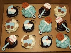 Suzy's Sweet Shoppe: Sports Baby Shower Cupcakes