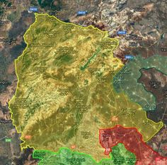 -Afrin canton after liberation of Al-Hasia from Daesh #Kurds #YPG #SDF #Daesh #ISIL #IS #Rojava #Syria #TwitterKurds #EuphratesShieldFailed