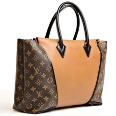 Louis Vuitton Noisette Monogram Canvas & Cuir Orfèvre W PM | From a collection of rare vintage handbags and purses at http://www.1stdibs.com/fashion/accessories/handbags-purses/