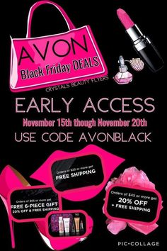 Shop online with {{Session.Name}}, your local Avon Representative! Black Friday Shopping, Black Friday Deals, Cyber Monday Specials, Avon Sales, Avon Online, Makeup Case, Skin So Soft, Lipstick Colors, Free Shipping