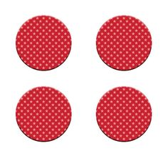 A Pack of 4 stars on red BG seamless Pattern Weights inspired by TV Sewing Bee #ricemetalscreationscouk