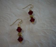 Earrings Made with Swarovski Crystals - Siam